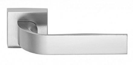 Frascio 630/50Q/SCP Eidos Door Handle On Square Rose Satin Chrome